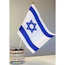 Handhållen israelflagga, 20 x13,5 cm